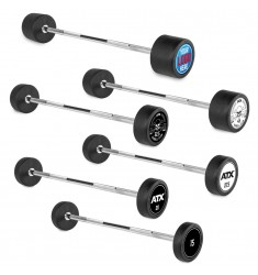 PRO-Style - Straight Bar / Kompaktlanghanteln – gummiert 10 – 50 kg - verschiedene Motive oder mit Ihrem individuellen Logo