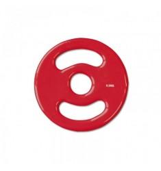 30 mm Vinyl-Disk Hantelscheibe - rot - 0,5 kg