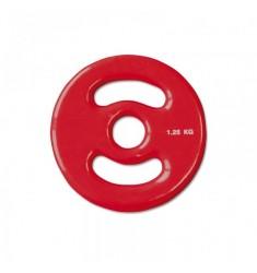 30 mm Vinyl-Disk Hantelscheibe - rot - 1,25 kg
