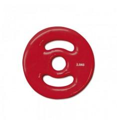 30 mm Vinyl-Disk Hantelscheibe - rot - 2,5 kg