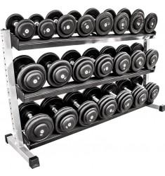 Vorteilspaket*CHD-Satz Gummi 5-30 kg inkl. Rack (Kompakthanteln)