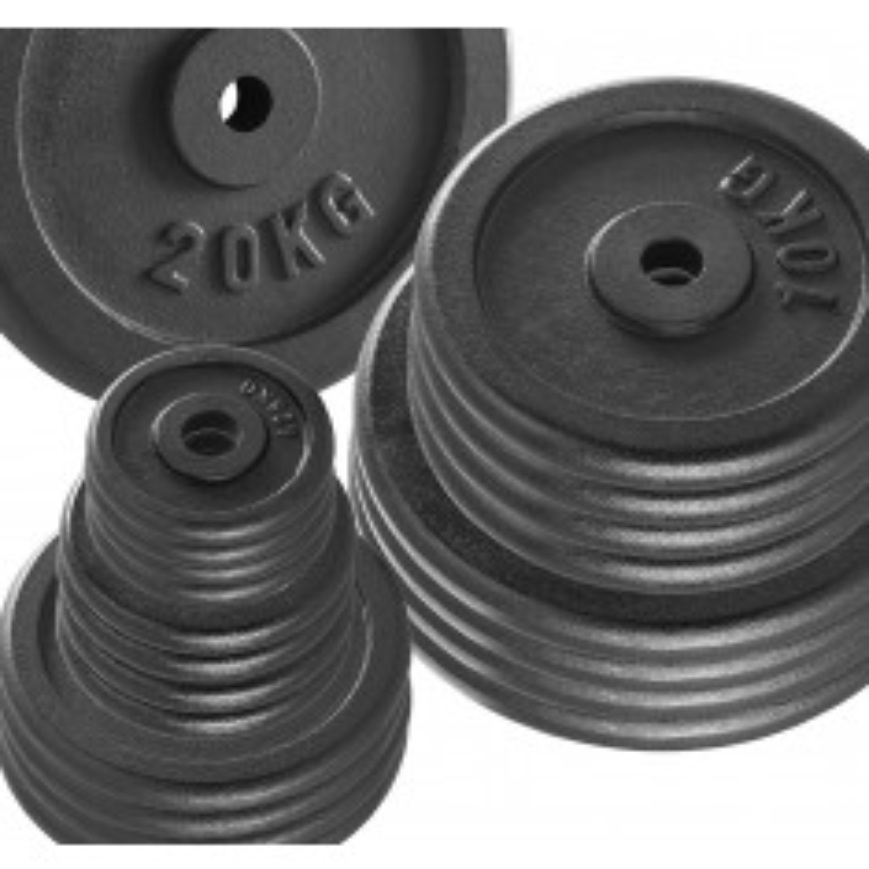 Vorteilspaket! - 50 KG Hantelscheiben Guss - 30 mm - Sortierung frei wählbar (Hantelscheiben)