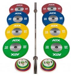 Vorteilspaket ✅ - Competition Weightlifting Set 185 kg (Kompakthanteln)