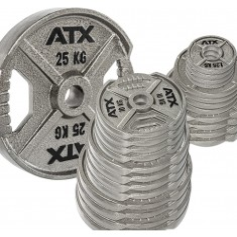 Vorteilspaket! 120 kg - 50 mm ATX® XT-Iron Plates / Guss Hantelscheiben - Sortierung frei wählbar ✅