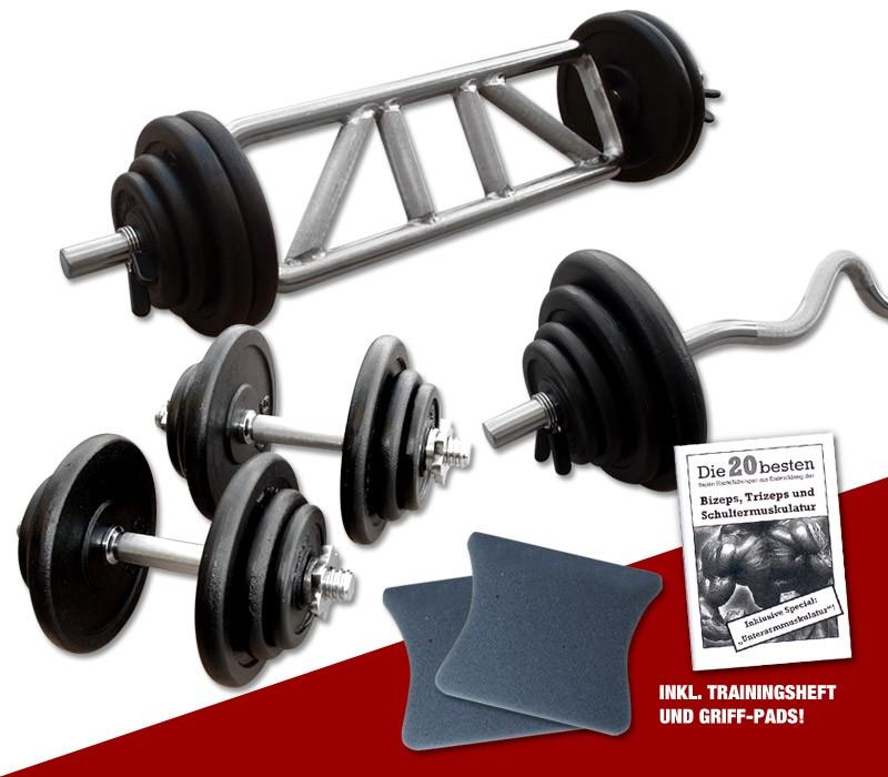 Megafitness Shop Guss - Mega Bizeps-Trizep-Set - 77 kg G-MBTS-77