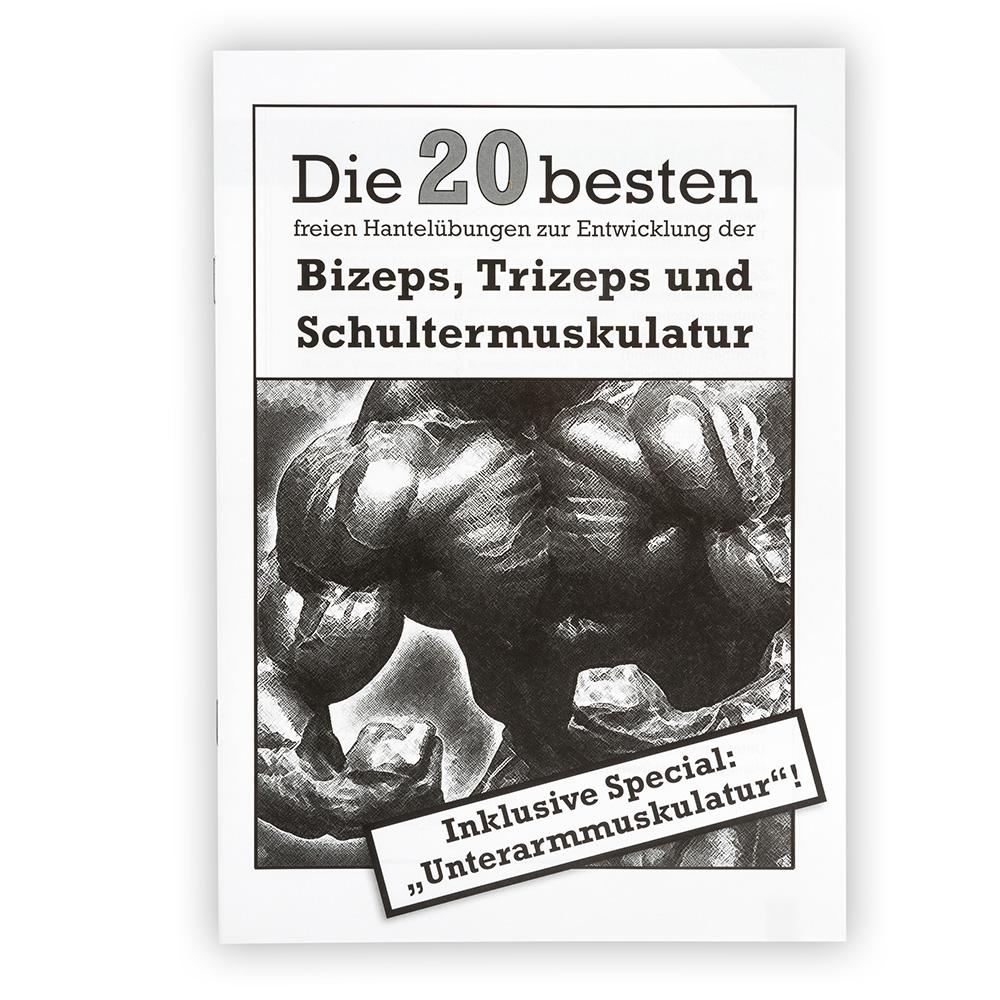 Megafitness Shop Übungsanleitung - Die 20 besten freien Hantelübungen Hantel-Heft