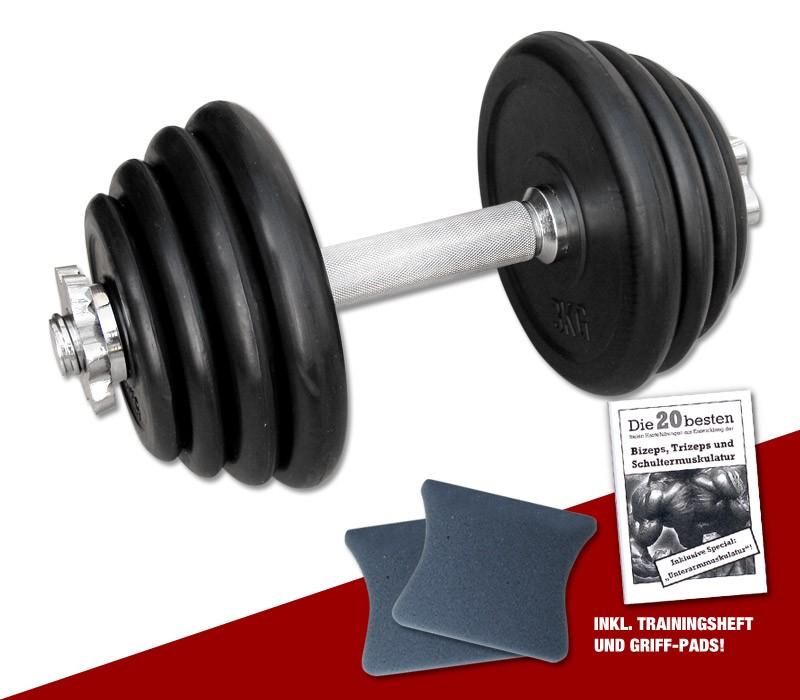 Megafitness Shop Kurzhantel-Set 15 kg - 13-fach verstellbar R-KHS-15-1