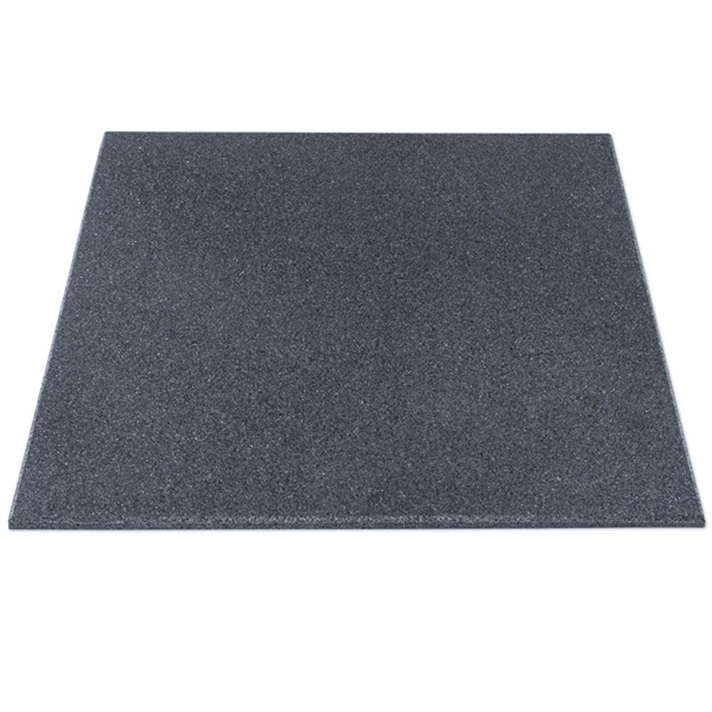 Gymfloor® - Granulat Bodenschutzplatte - Fitness - 1000 x 1000 x 15 mm - grau RTF-15-700-B