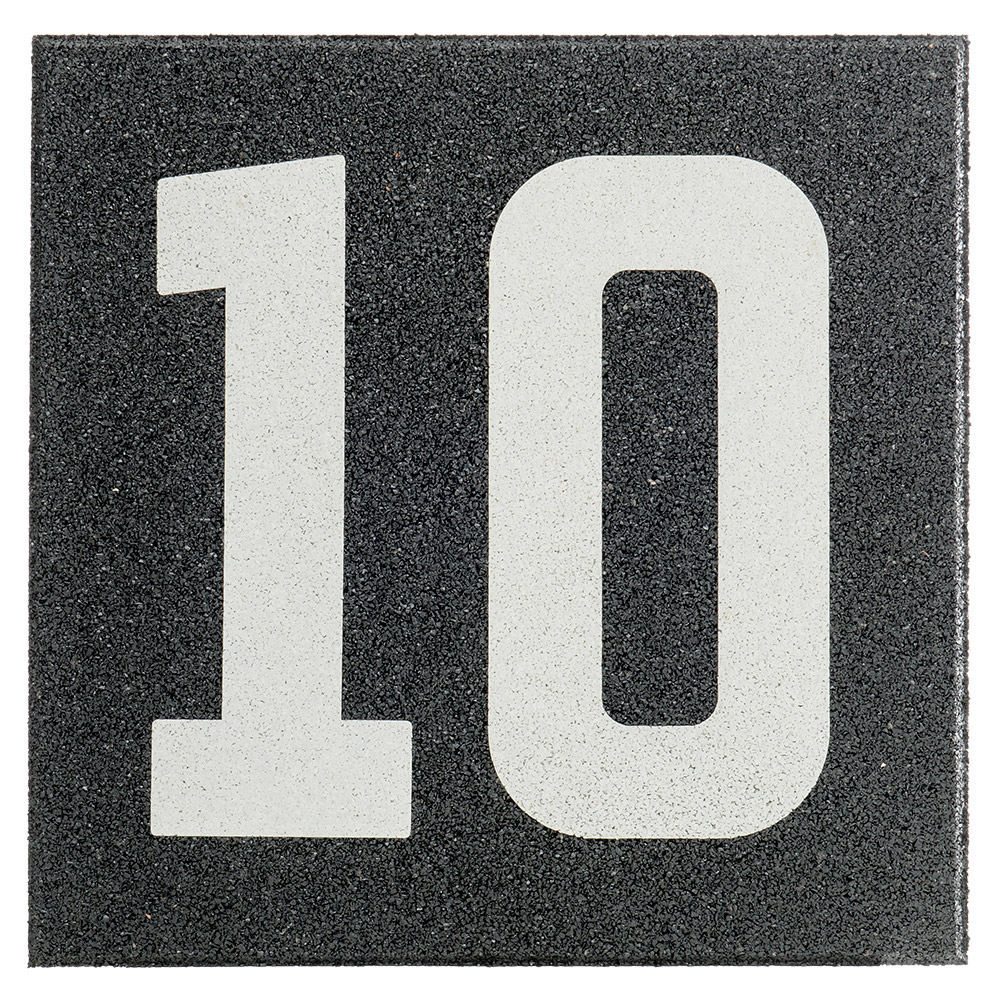 Gymfloor® - Rubber Tile System - mit Zahl 10 (Zehn) RTS-20-N10