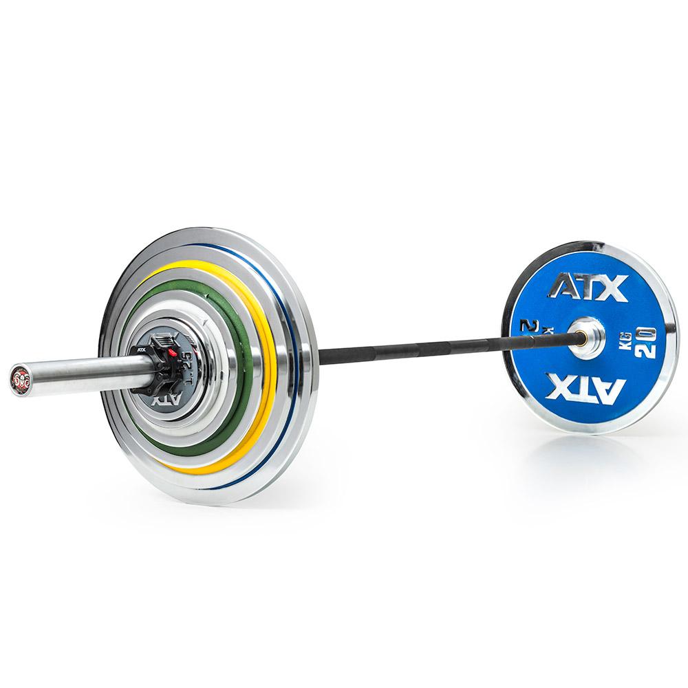 Vorteilspaket! ATX® Powerlifting - Hantelsatz 127,5 kg WLS-CICP-1275