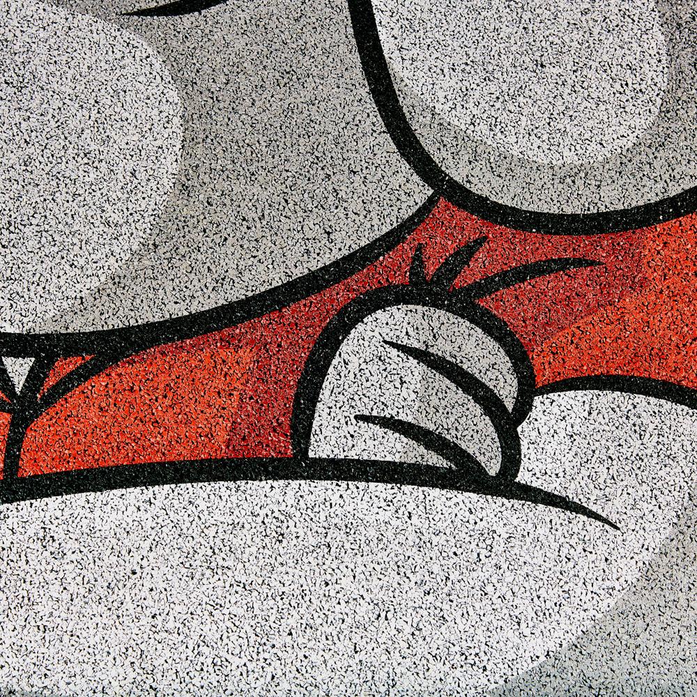 Bodenaufkleber Detail 2