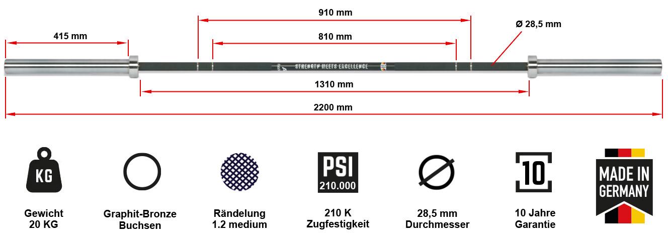 Original ATX® XTP® Multibar Black Special Coating made in Germany